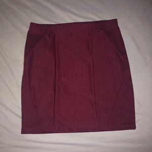 Forever 21 Maroon Pencil Skirt